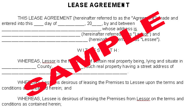 Lease Agreement - Financial Tip Of The Day.Com - Freedom Through